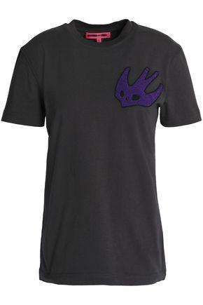 McQ Alexander McQueen Appliquéd cotton-jersey T-shirt