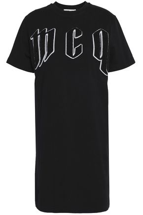 McQ Alexander McQueen Flocked cotton-jersey T-shirt