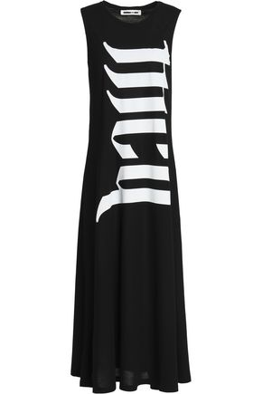 McQ Alexander McQueen Printed cotton-jersey midi dress