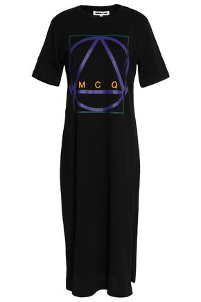 McQ Alexander McQueen Printed cotton-jersey dress