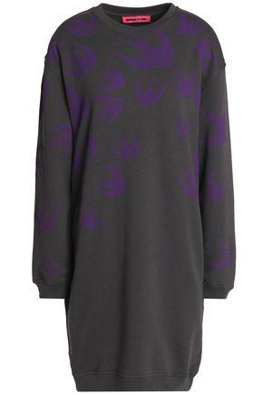 McQ Alexander McQueen Printed cotton-blend jersey mini dress