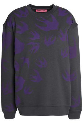 McQ Alexander McQueen Printed cotton-blend jersey sweatshirt