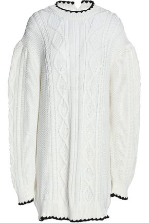 43ad58cff25 McQ Alexander McQueen Cable-knit cotton mini dress ...