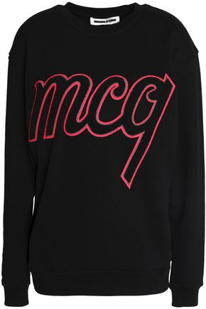 McQ Alexander McQueen Flocked cotton-jersey sweatshirt