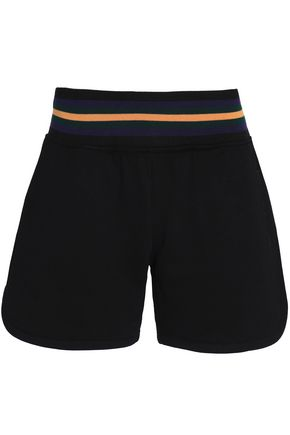 McQ Alexander McQueen Embroidered cotton-terry shorts