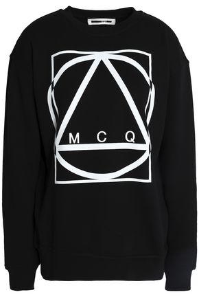 McQ Alexander McQueen Printed cotton-jersey sweatshirt