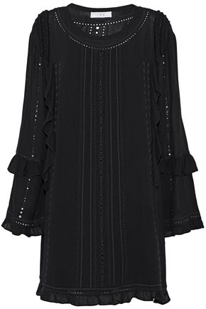 IRO Ruffled broderie anglaise gauze mini dress