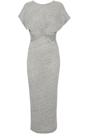 IRO Twist-front cotton and modal-blend jersey midi dress