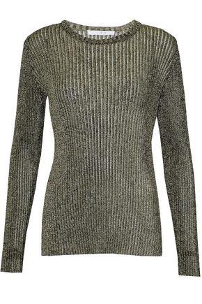 IRO Metallic ribbed-knit top