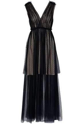 JASON WU Layered pleated point d'espirit gown