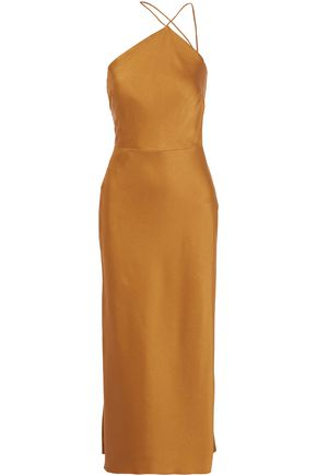 JASON WU Asymmetric satin-crepe midi dress
