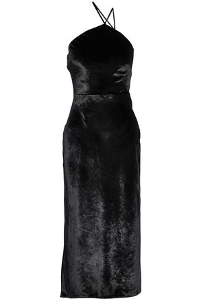 JASON WU Asymmetric velvet midi dress