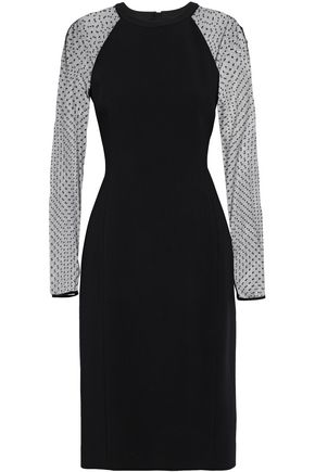 JASON WU Point d'esprit-paneled crepe dress