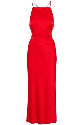 JASON WU Open-back satin-crepe midi dress