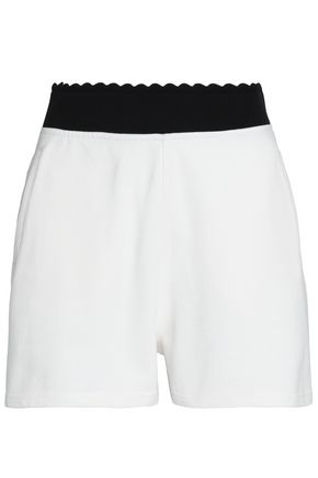McQ Alexander McQueen Embroidered cotton-jersey shorts