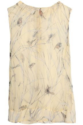 MARNI Crinkled printed chiffon top