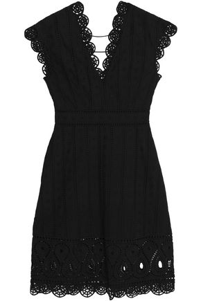 OPENING CEREMONY Scalloped broderie anglais cotton-poplin dress