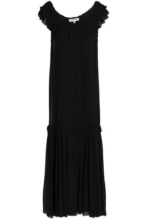 OPENING CEREMONY Ruffled silk-georgette maxi dress
