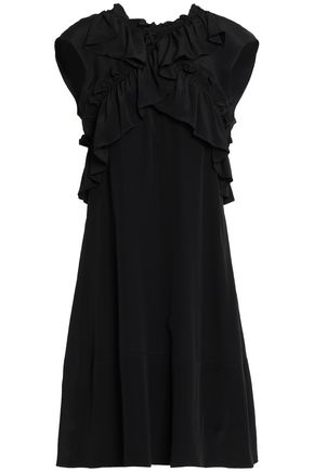 MARNI Ruffled crepe de chine mini dress