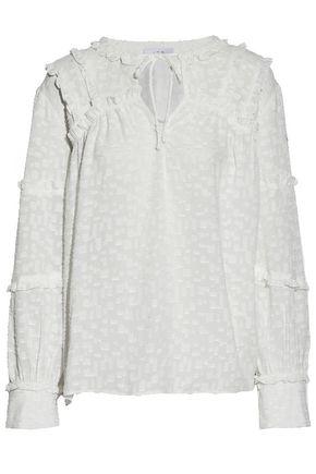 IRO Montana ruffle-trimmed fil coupé blouse
