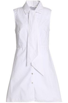 OPENING CEREMONY Pussy-bow cotton-poplin shirt dress
