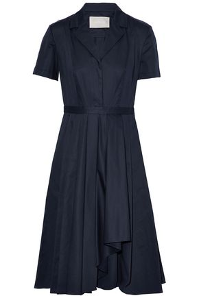 JASON WU Pleated cotton-poplin shirt dress