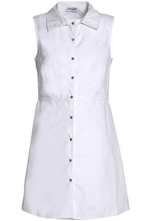 OPENING CEREMONY Gathered cotton-poplin shirt dress