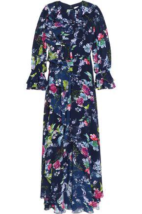 MIKAEL AGHAL Floral-print chiffon maxi dress