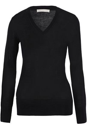 JASON WU Point d'espirit-trimmed wool-blend sweater
