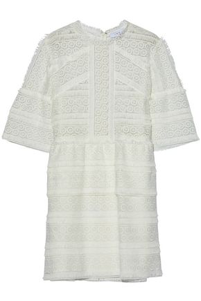 IRO Fringed guipure lace mini dress