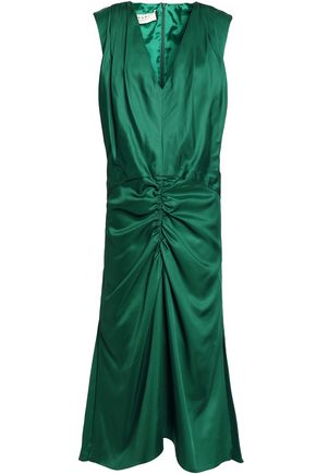 MARNI Ruched satin dress