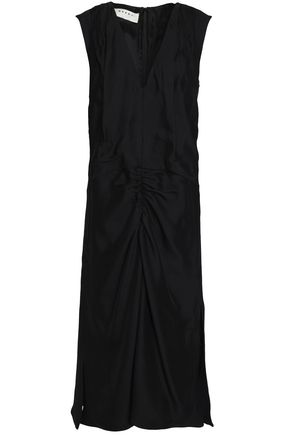MARNI Gathered crepe midi dress