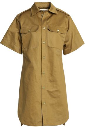 MARNI Cotton and linen-blend gabardine shirt dress