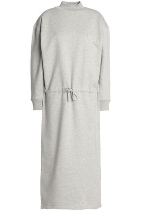 OPENING CEREMONY Tie-front mélange cotton-jersey midi dress