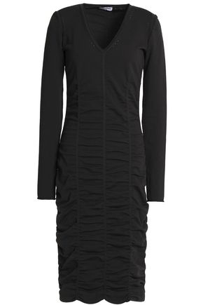 OPENING CEREMONY Pointelle-trimmed ruched stretch-knit dress