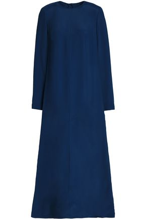 MARNI Button-detailed twill maxi dress
