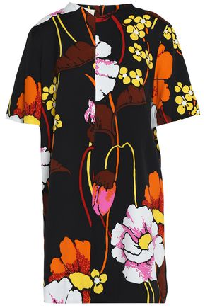 MARNI Floral-print crepe mini dress