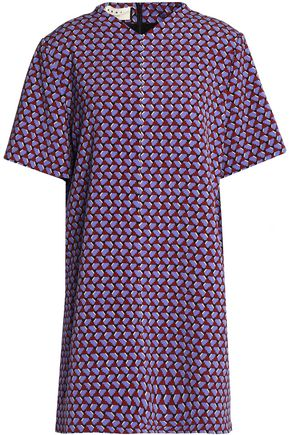 MARNI Printed wool-crepe top
