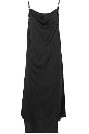 IRO Wrap-effect draped satin-crepe midi dress