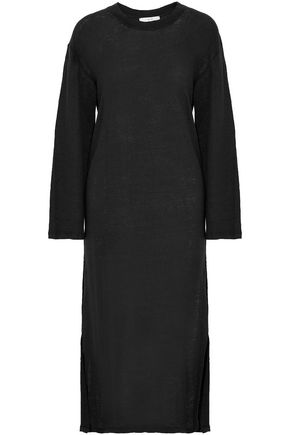 IRO Slub linen-jersey midi dress