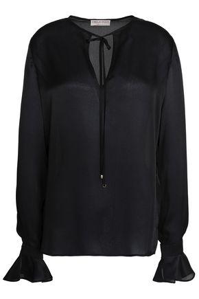 EMILIO PUCCI Tie-front silk-satin blouse
