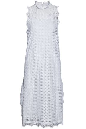 IRO Scalloped broderie anglaise cotton midi dress