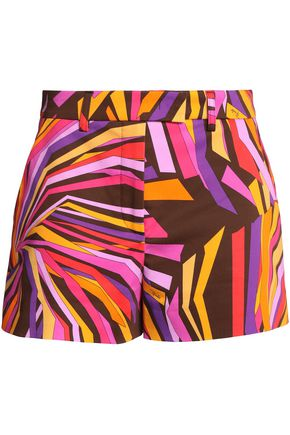 EMILIO PUCCI Printed cotton-blend shorts