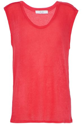 IRO Neon crepe de chine top