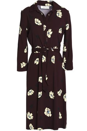 GOAT Floral-print crepe dress