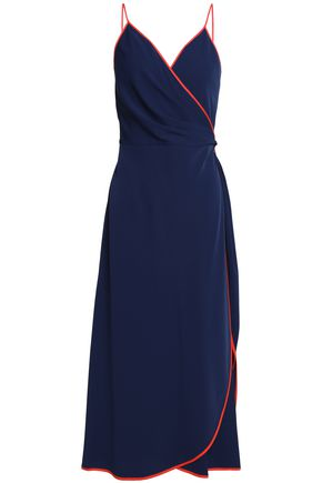 TORY BURCH Crepe wrap maxi dress