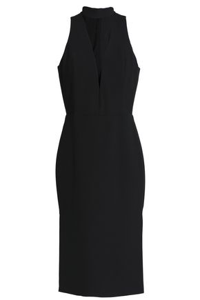 MICHELLE MASON Cutout stretch-crepe dress