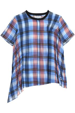 OPENING CEREMONY Checked gathered crepe top