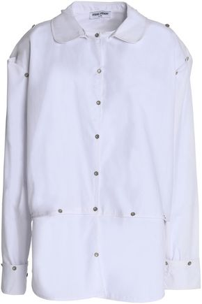 OPENING CEREMONY Button-detailed cotton-poplin shirt