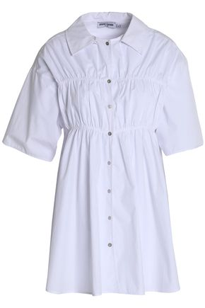 OPENING CEREMONY Shirred cotton-poplin tunic